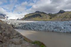 在Vatnajokul的融化冰河 图库摄影