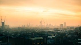 在Vauxhall,伦敦附近的建筑 图库摄影