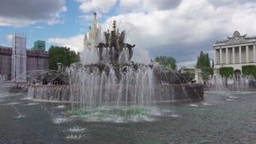 在VDNKh的喷泉在莫斯科 影视素材
