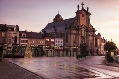在Veemarkt的多雨早晨在梅赫伦 免版税库存照片