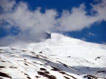 在Veleta的滑雪 免版税库存照片