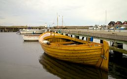在Ven海岛,瑞典的小船 图库摄影