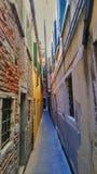 在venecia的街道 免版税库存图片