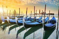 在Venezia的长平底船 免版税库存图片