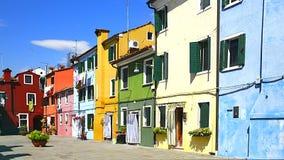 在Venise附近的Burano村庄 库存照片
