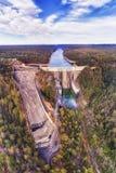 在vert下的D Warrag水坝前面上面 库存照片