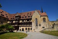 在VESTE科堡城堡的历史建筑在科堡,德国 免版税库存照片