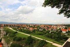 在Veszprem的视图 免版税库存图片