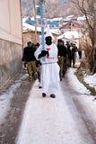 在VEVCANI,马其顿的狂欢节 库存照片