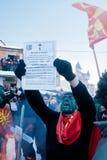 在VEVCANI,马其顿的狂欢节 库存图片