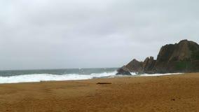 在Viña Del Mar岸的岩石  免版税图库摄影