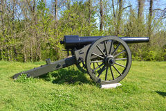 在Vicksburg的大炮 库存图片