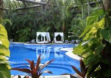 在Vidanta里维埃拉玛雅人的水池 免版税库存照片