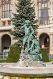在Vigado音乐堂前面的喷泉 布达佩斯,匈牙利 库存照片