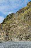 在Vik附近的玄武岩形成 库存照片