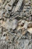 在Vik附近的玄武岩形成 免版税库存图片