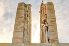 在Vimy法国世界大战1的加拿大纪念品 库存图片
