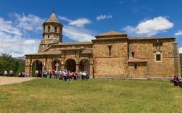 在Virgen de la贝利利亚寺庙的大量以后  免版税库存图片