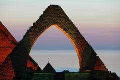 在Visby.JH的中世纪废墟St.Katarina 免版税库存照片