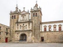 在Viseu -葡萄牙的大教堂的看法 免版税库存图片