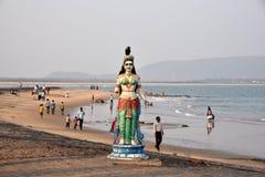 在Vishakhpatnam的Bhimili海滩 免版税库存图片