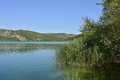 在Visovac附近的风景 库存照片