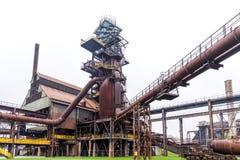 在Vitkovice闩上塔和鼓风炉在俄斯拉发,捷克 免版税库存照片