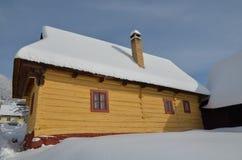 在vlkolinec的村庄 库存照片