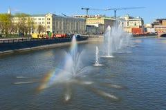 在Vodootvodny运河,莫斯科,俄罗斯的看法 图库摄影