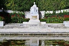 在Volksgarten的Sissi雕象在维也纳 库存图片
