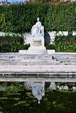 在Volksgarten的Sissi雕象在维也纳 免版税库存照片