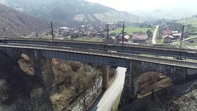 在Volovechchina的桥梁看了三个世纪 股票视频