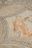 在Volubilis罗马废墟专栏议院的五颜六色的马赛克在梅克内斯,摩洛哥,非洲附近的 库存照片