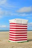海滩帐篷Borkum 免版税库存图片