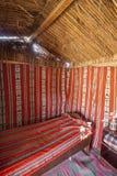 在Wahiba沙子,阿曼的秸杆小屋 库存照片