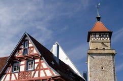 在Waiblingen的古老塔 免版税库存图片