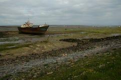 在Walney海岛的Shipwreack 免版税库存照片