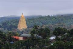 在Wangvivagegaram寺庙的Bodhgaya式stupa 免版税图库摄影