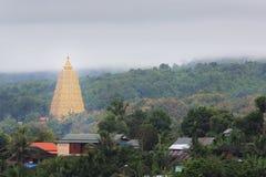 在Wangvivagegaram寺庙的Bodhgaya式stupa 库存照片