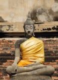 在Wat亚伊柴Mongkhol的古老菩萨雕象 免版税库存照片