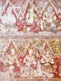 在Wat亚伊Suwannaram的壁画 免版税库存图片