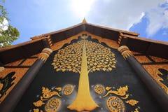 在Wat后Phra教堂的泰国壁画那土井Phra 库存照片