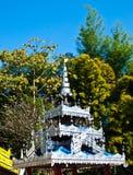 在Wat巴生, Pai顶房顶在Tai亚伊样式(平底锅soi)的装饰 免版税库存图片