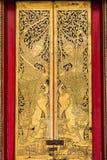在wat Benchamabophit寺庙,曼谷的门在泰国 库存图片