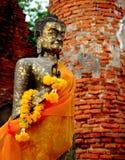 在Wat Dharmikraj的菩萨雕象 图库摄影