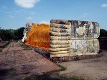 在wat Lokaya suttha,阿尤特拉利夫雷斯泰国的菩萨雕象 免版税库存照片