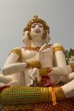 在Wat Mai西康省苍白寺庙, Phichit,泰国的最大的Brahma 免版税图库摄影