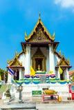 在Wat Na Phramane的寺庙在阿尤特拉利夫雷斯 库存照片