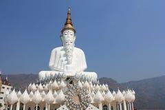 在Wat Phasornkaew的五菩萨雕象 库存图片