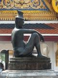 在Wat Pho寺庙的石雕象在曼谷,泰国 免版税图库摄影